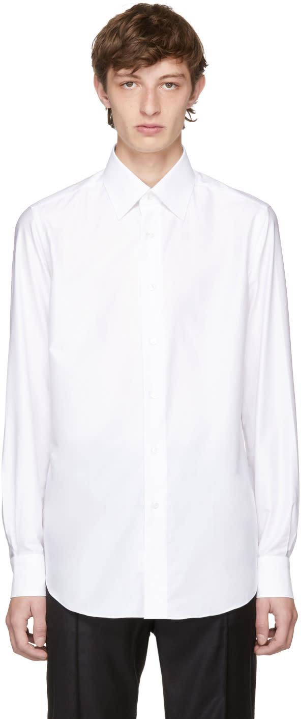 Brioni Chemise Ajustée Blanche Dress