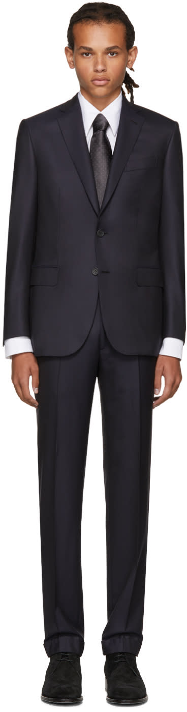 Image of Brioni Navy Madison Suit