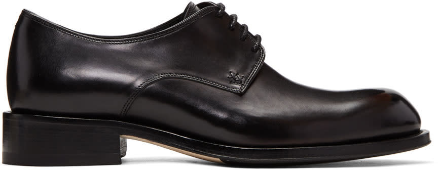 Image of Brioni Black Bram Derbys