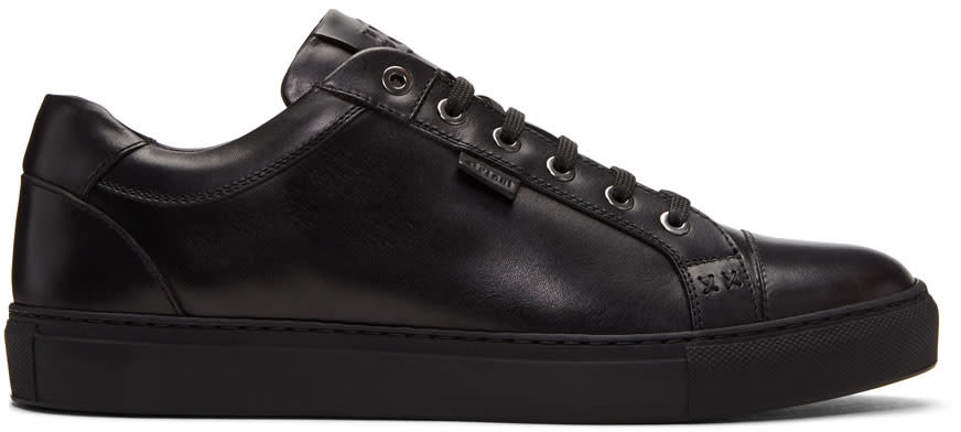 Image of Brioni Black Derek Sneakers