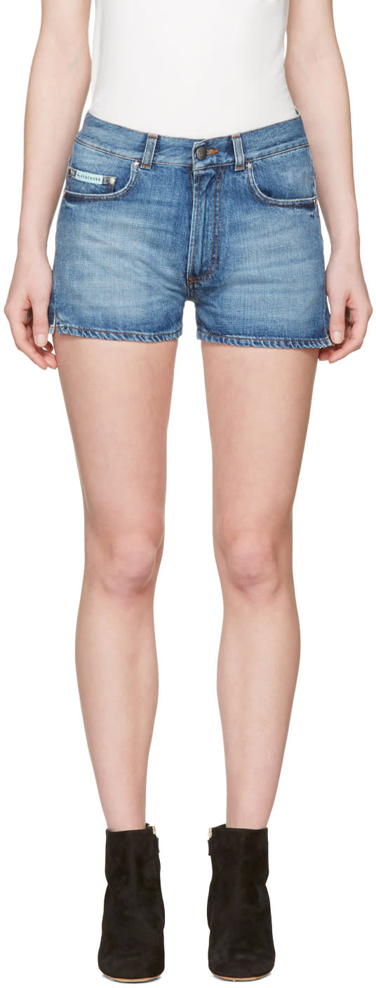 Image of Alexachung Blue Denim Hot Pants