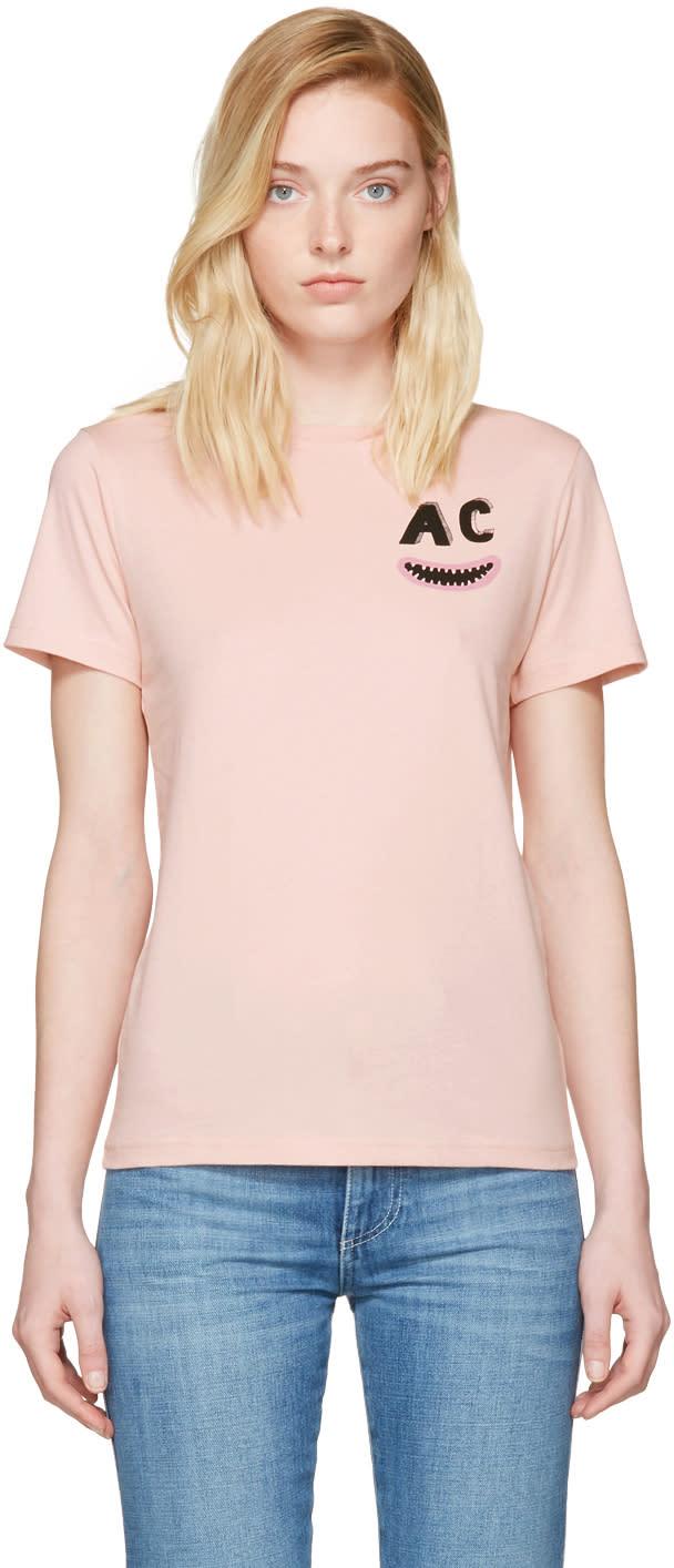 Alexachung Pink Ac Teeth Boxy T-shirt