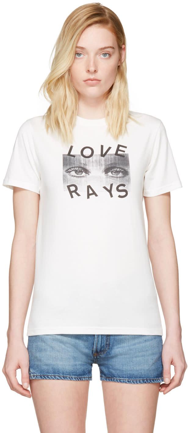 Alexachung Ivory love Rays Boxy T-shirt
