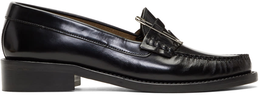 Image of Alexachung Black Safety Pin Loafers