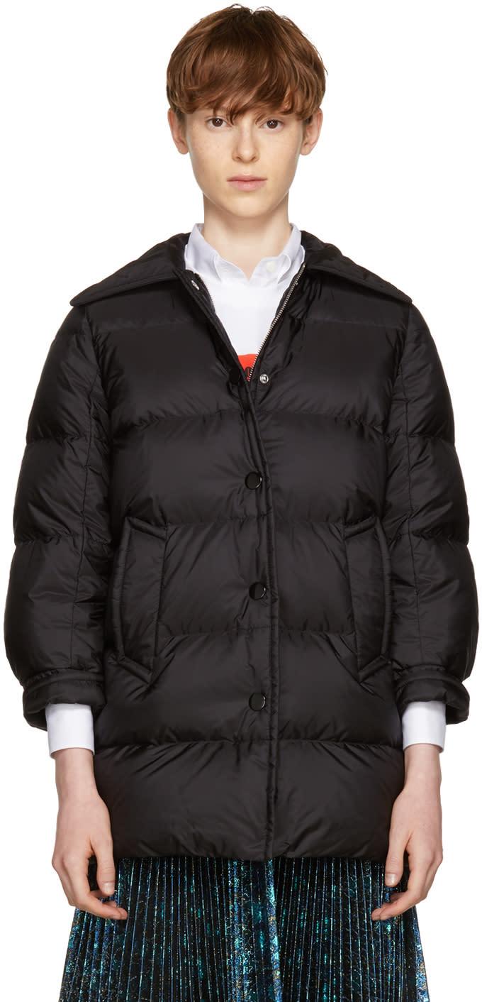 Image of Prada Black Down Puffer Coat