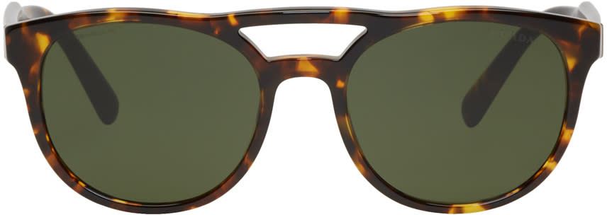 3e332235debdd Prada Tortoiseshell Double Bridge Sunglasses