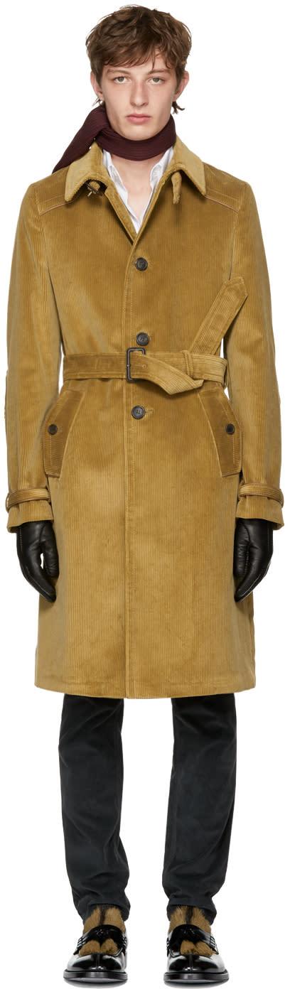 Image of Prada Tan Corduroy Coat
