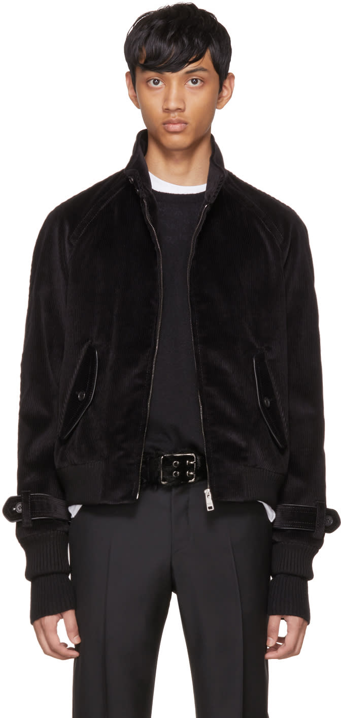 Image of Prada Black Corduroy Jacket