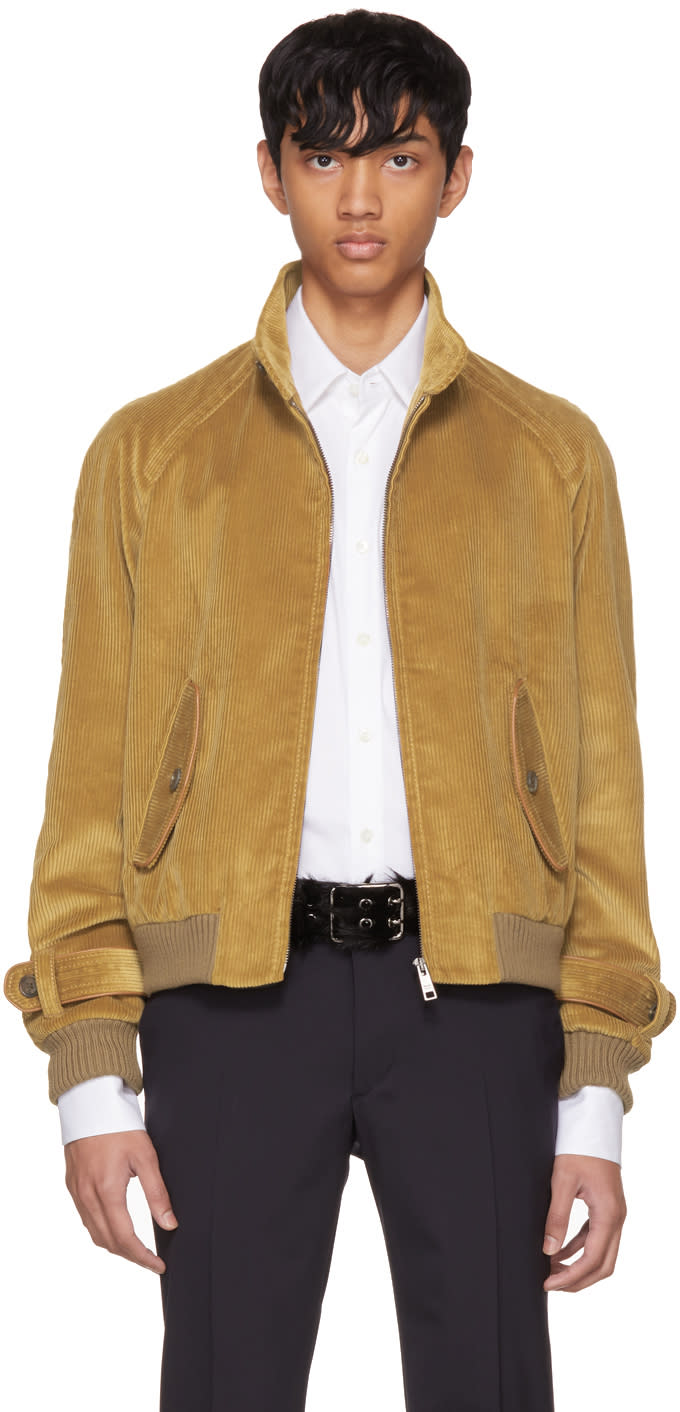 Image of Prada Tan Corduroy Jacket