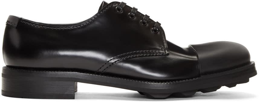 Image of Prada Black Cap Toe Derbys