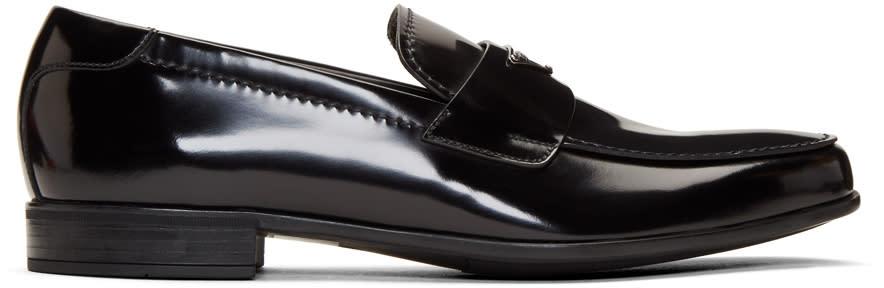 Prada Black Logo Loafers