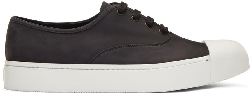 Prada Black Nubuck Sneakers