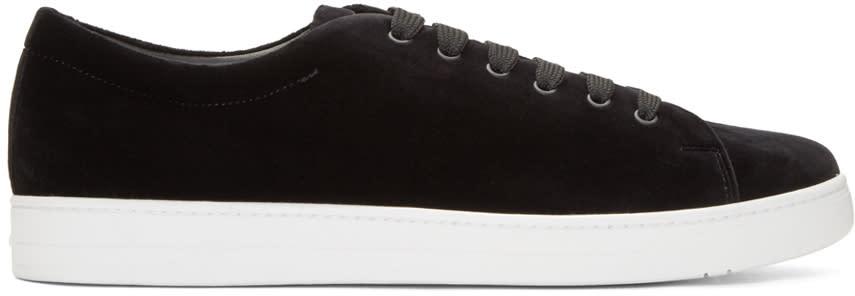 Prada Black Velvet Sneakers