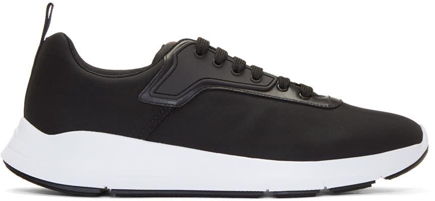 Prada Black Nylon Tech Sneakers