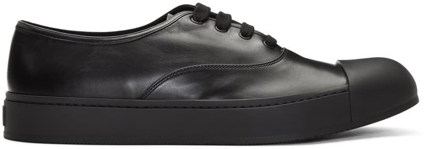 Prada Black Cap Toe Sneakers
