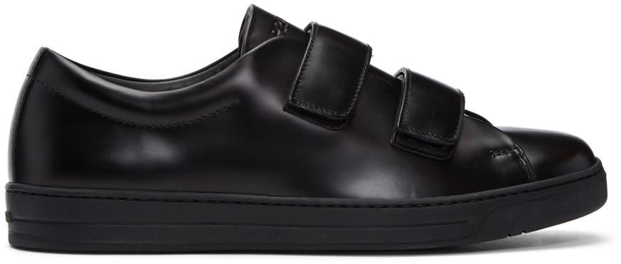 Prada Black Two Strap Sneakers
