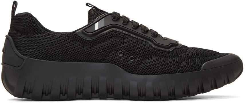 Prada Black Mesh Sneakers