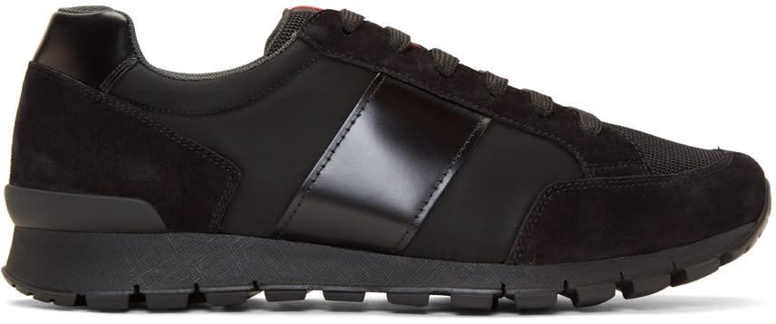 Prada Black Hybrid Sneakers