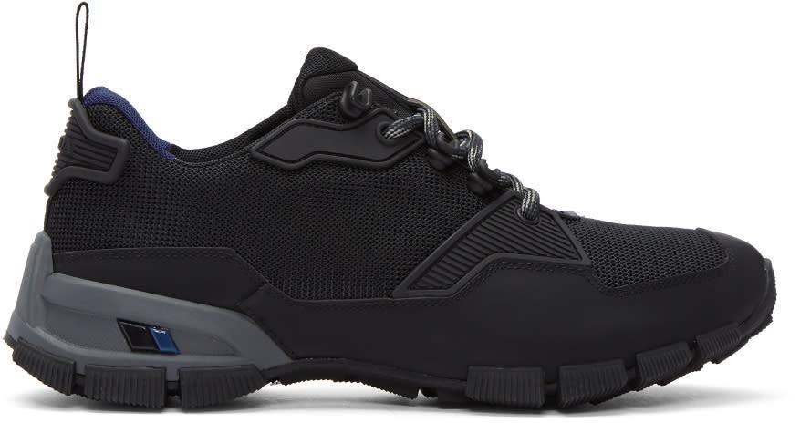 Prada Black Technical Sneakers
