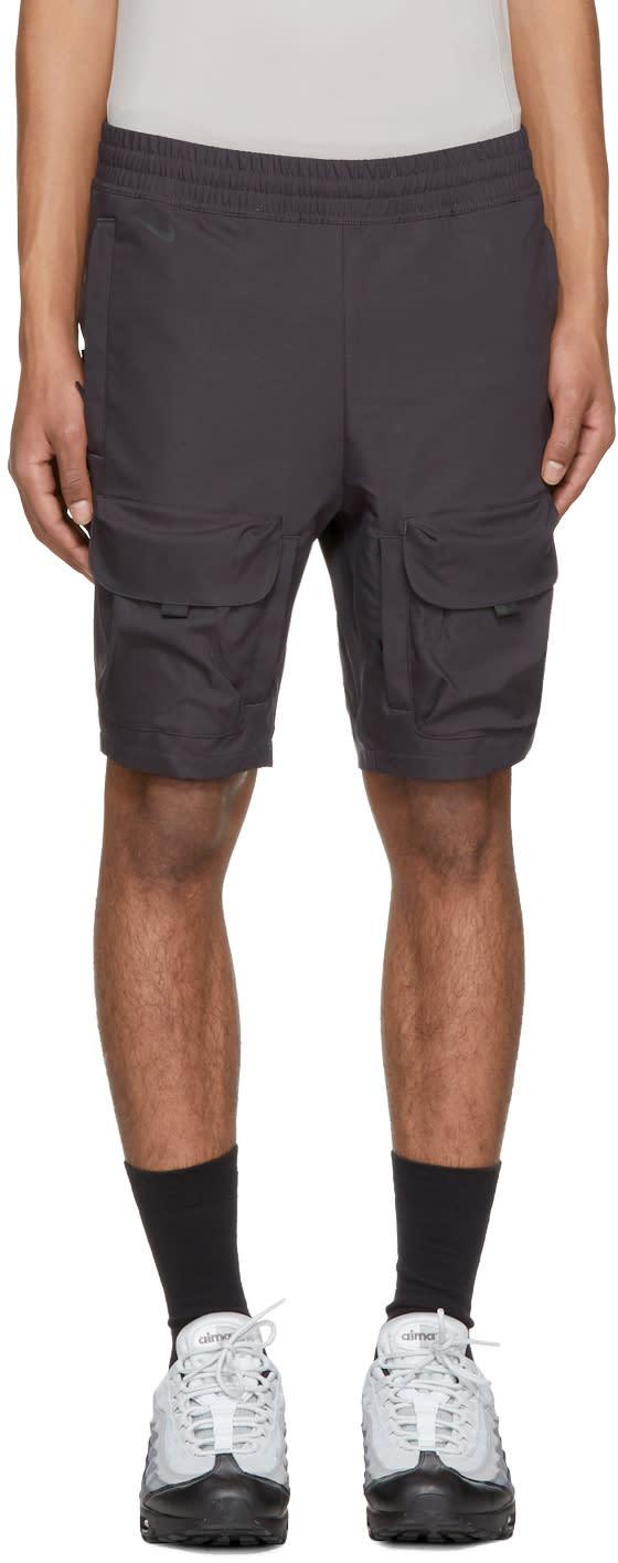 Image of Nikelab Grey Aae 1.0 Cargo Shorts
