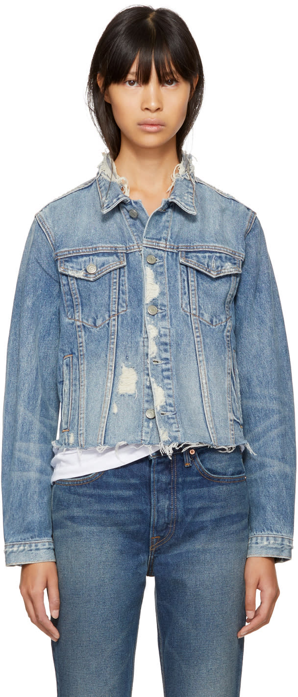 Image of Grlfrnd Blue Denim Cara Jacket