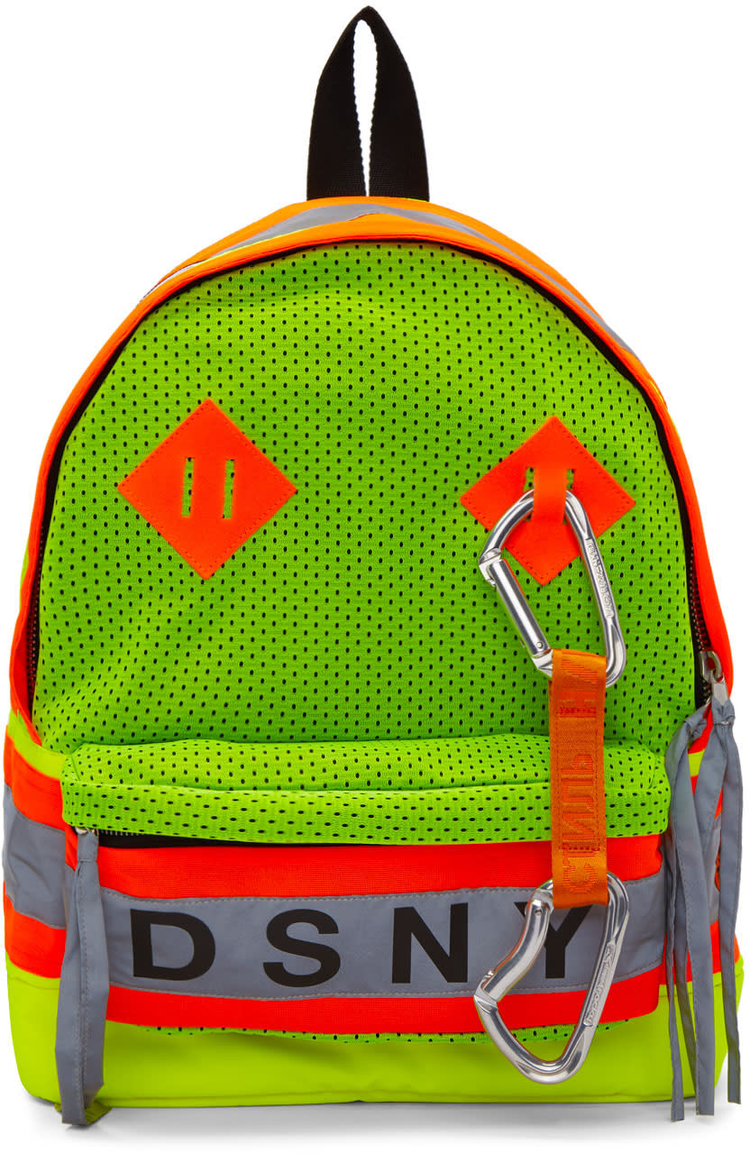 Heron Preston Yellow and Orange Dsny Edition Backpack