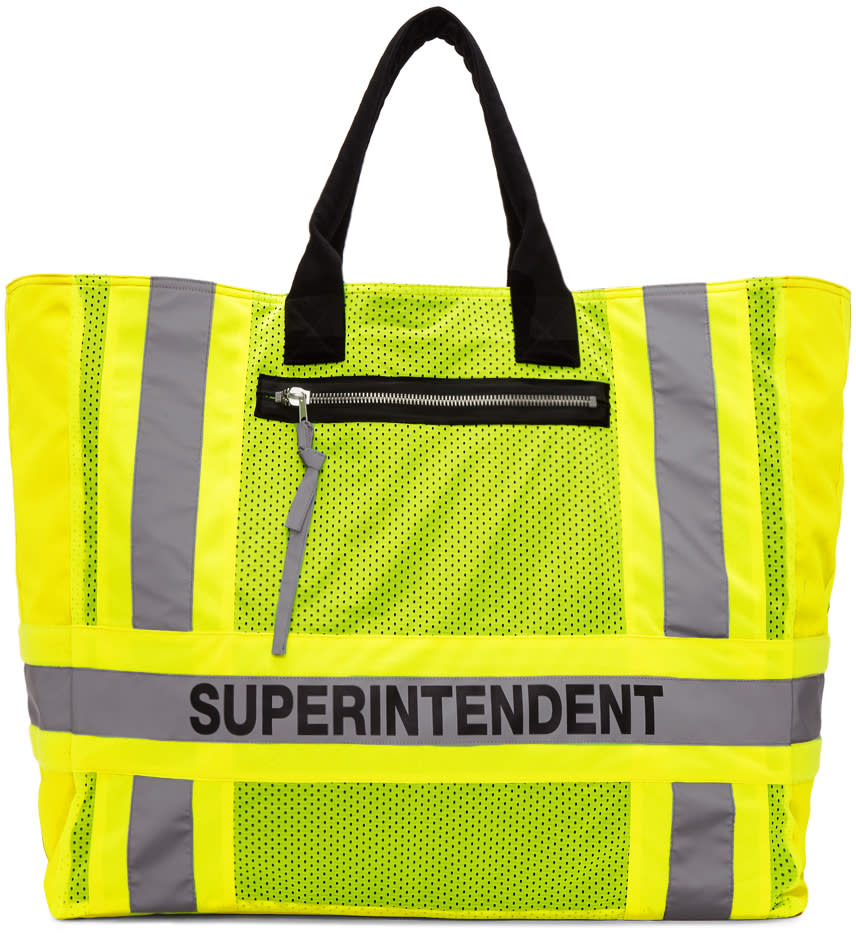 Heron Preston Yellow Dsny Edition Superintendent Tote