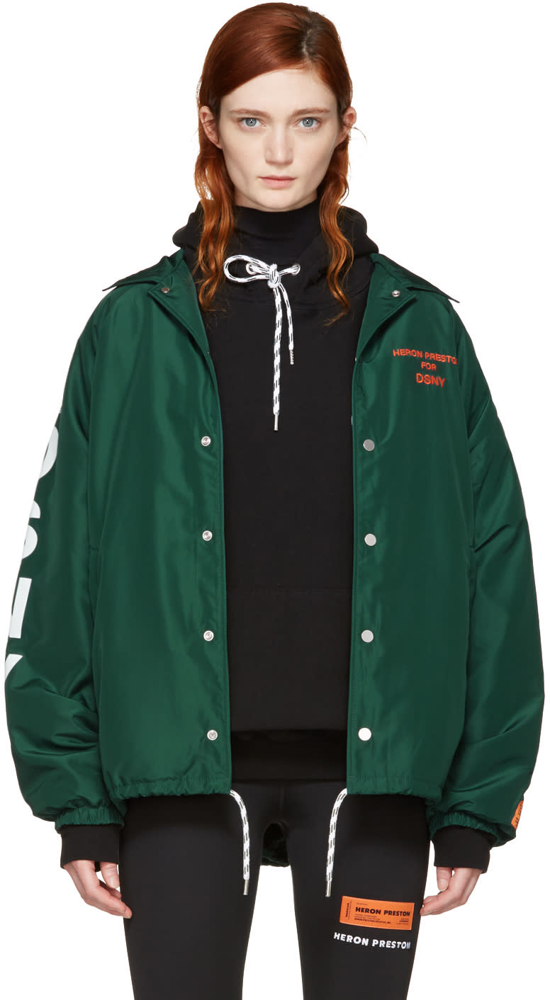 Heron Preston Green Dsny Edition Coach Jacket
