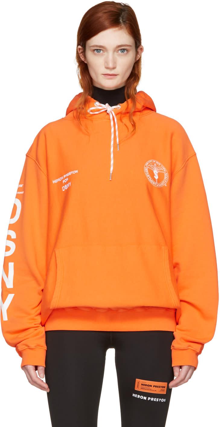 Heron Preston Orange Dsny Edition uniform Hoodie