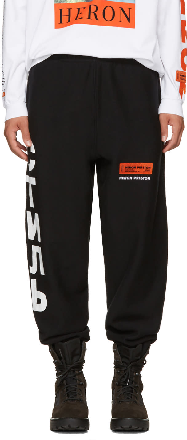 Image of Heron Preston Black ctnmb Sweatpants