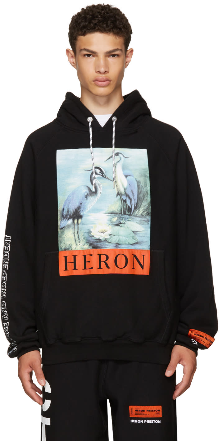 Image of Heron Preston Black Heron Hoodie
