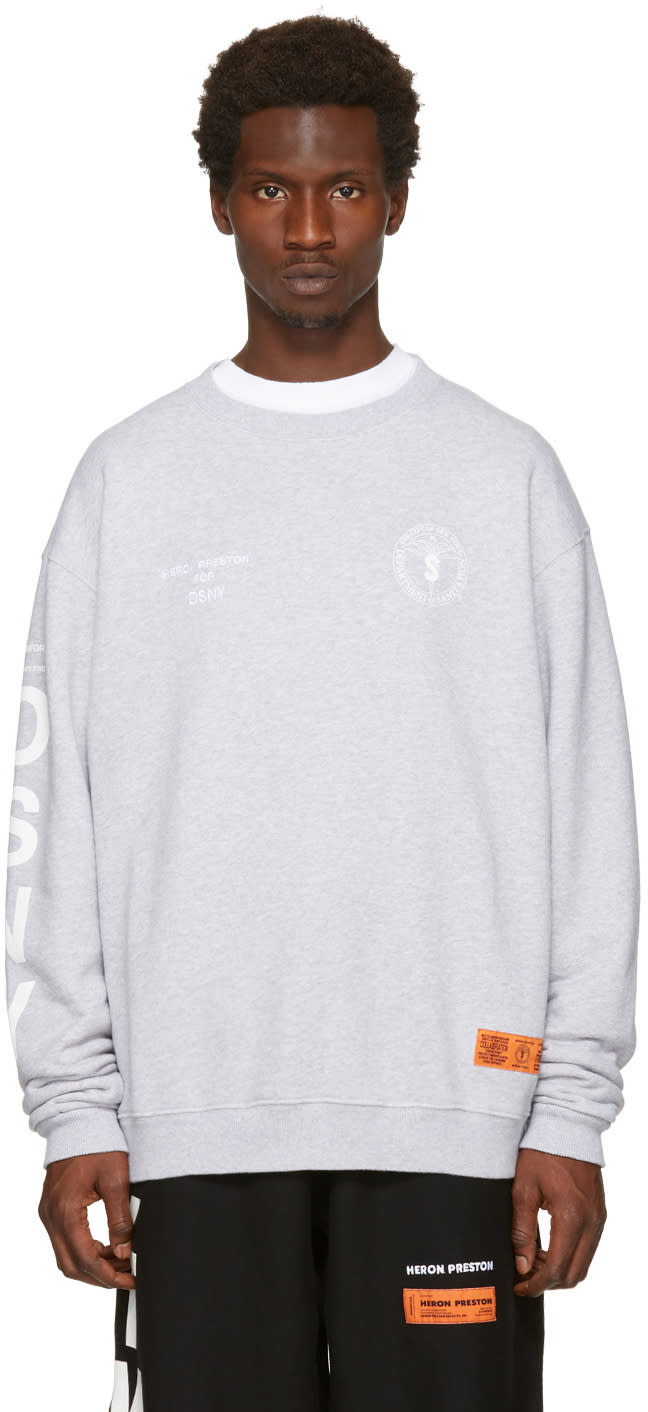 Heron Preston Grey Dsny Edition uniform Sweatshirt