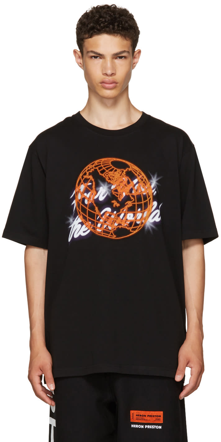 Image of Heron Preston Black for You T-shirt