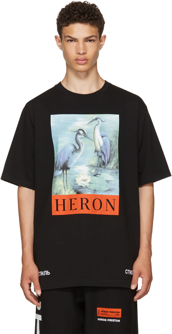 Image of Heron Preston Black Heron T-shirt