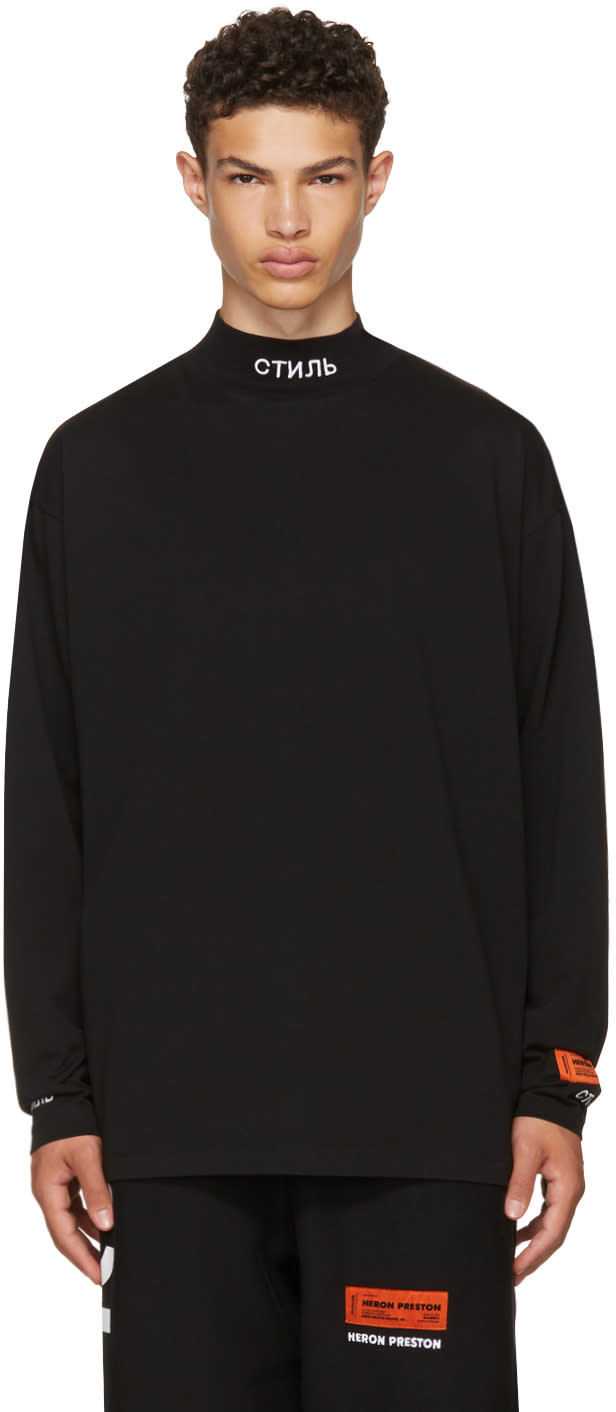 Image of Heron Preston Black Long Sleeve for You ctnmb T-shirt