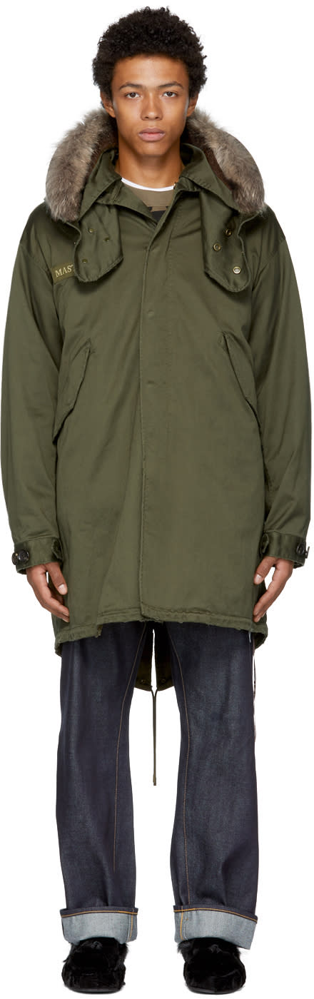 Image of Mastermind World Green Skull Military Jacket