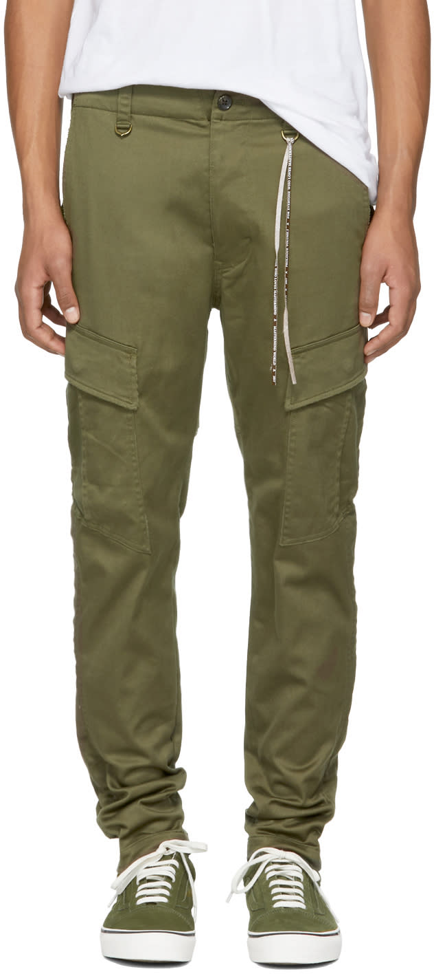 Image of Mastermind World Green Skull Cargo Trousers