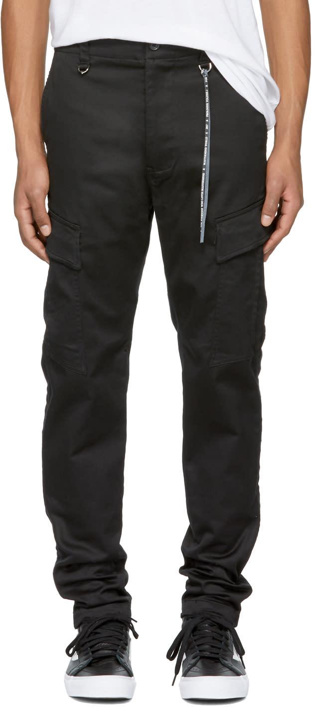Image of Mastermind World Black Skull Cargo Trousers