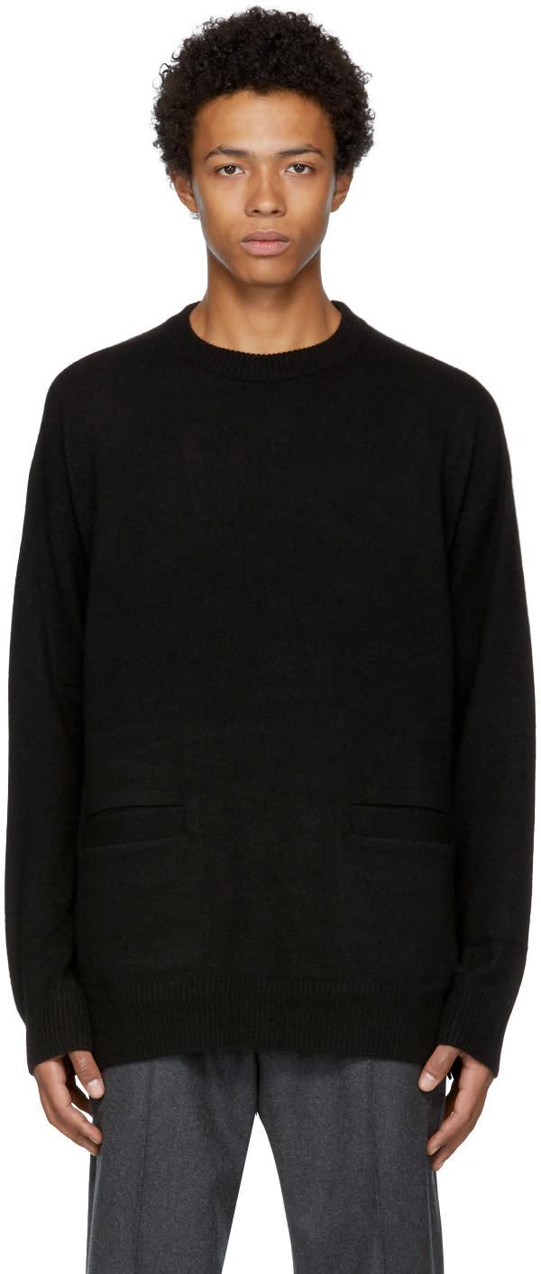 Image of Mastermind World Black Cashmere Intarsia Sweater