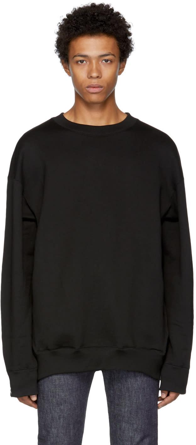 Image of Mastermind World Black Oversized Logo Sweatshirt