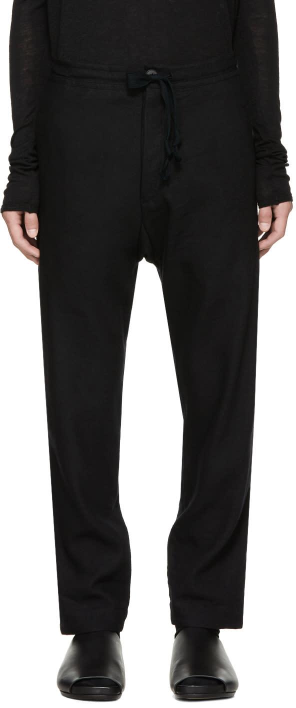 Image of Jan-jan Van Essche Black 25 Trousers