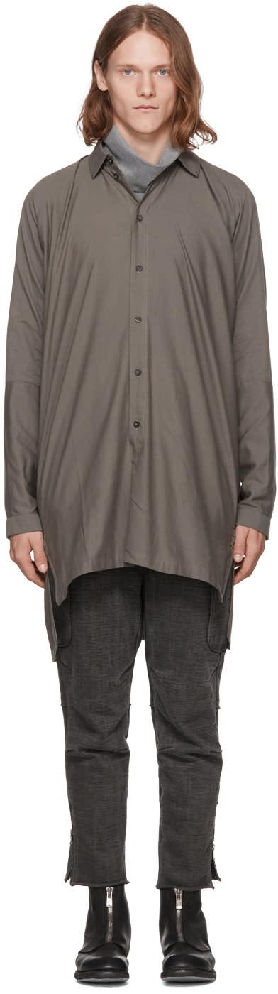 Image of Jan-jan Van Essche Grey Long Shirt