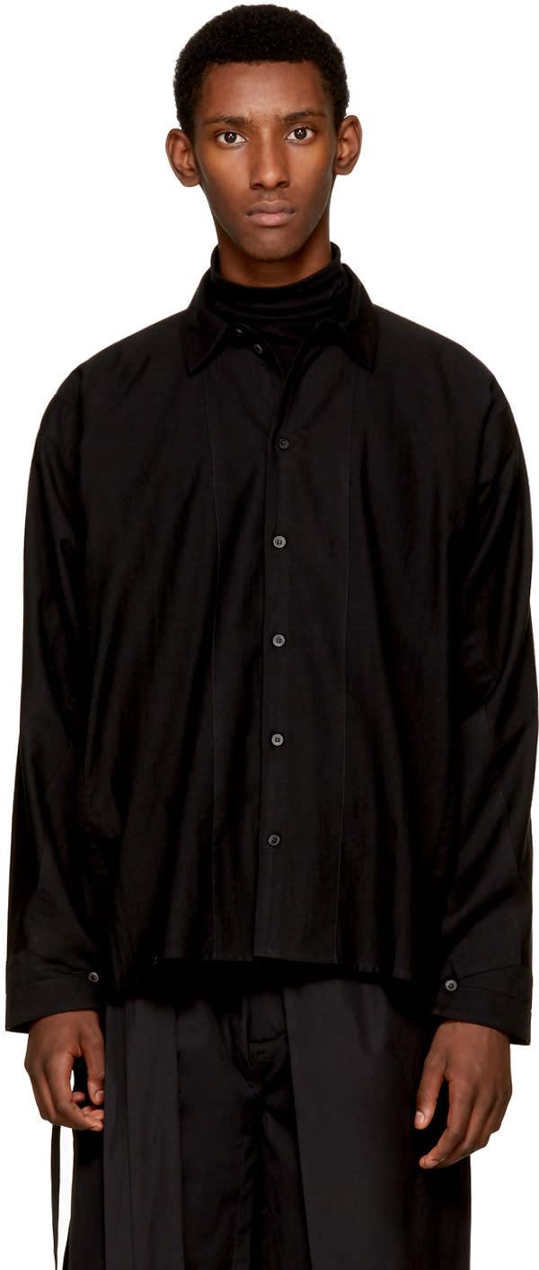 Image of Jan-jan Van Essche Black Button-down Shirt