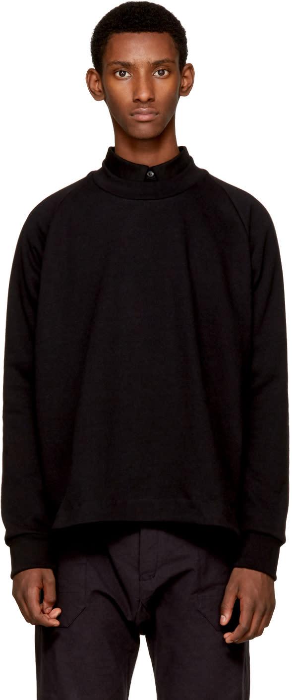 Image of Jan-jan Van Essche Black Crewneck Sweatshirt