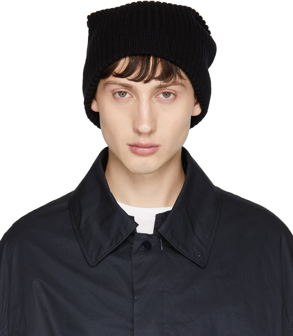 Image of Name. Black Ribbed Beanie