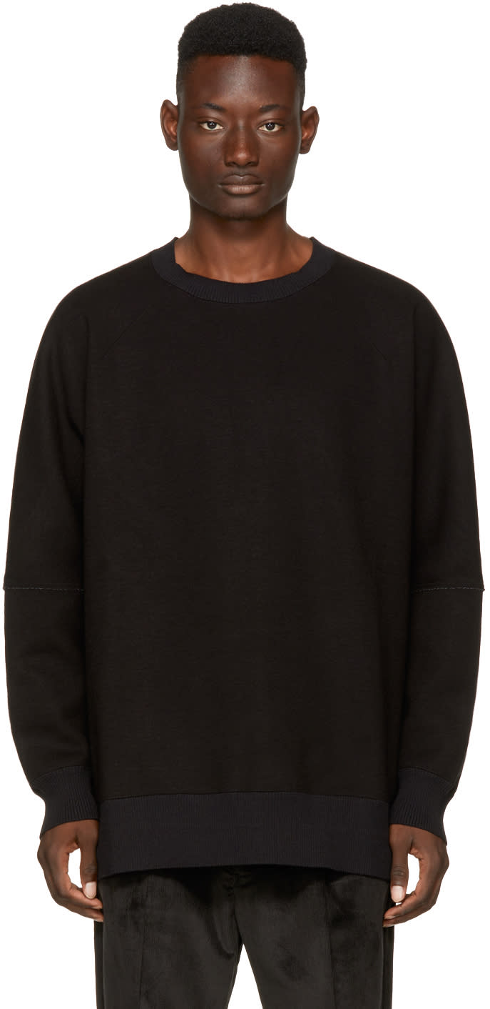 Image of Name. Black Oversized Sweatshirt