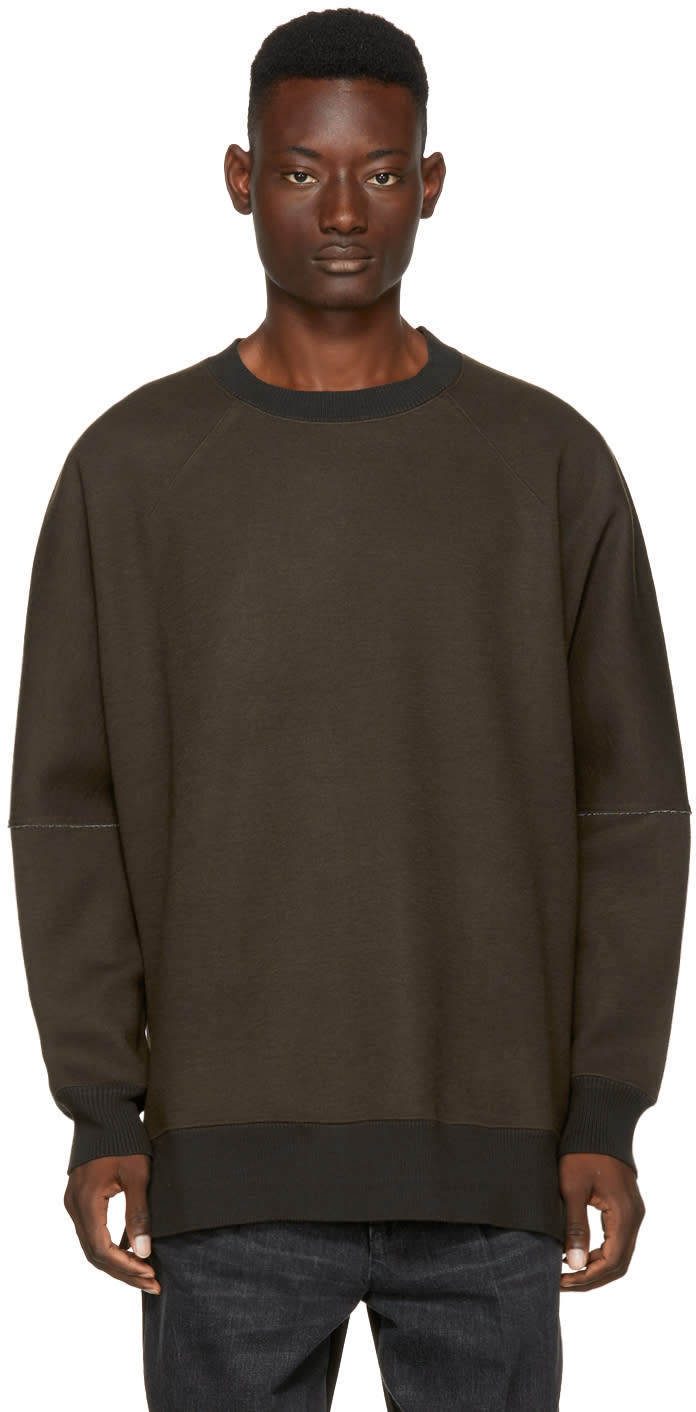 Image of Name. Brown Oversized Sweatshirt