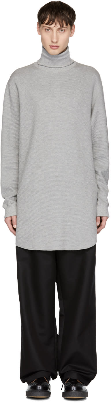 Image of Name. Grey Thermal Turtleneck