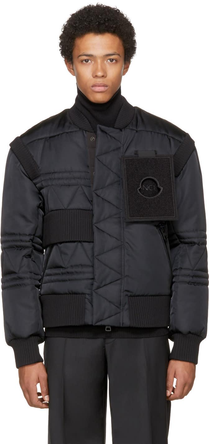 Image of Moncler C Black Down Richie Bomber Jacket