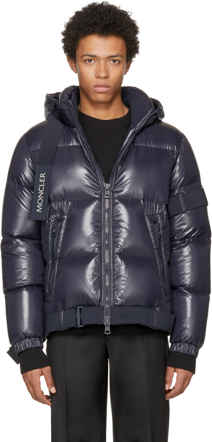 Image of Moncler C Navy Down Brook Jacket